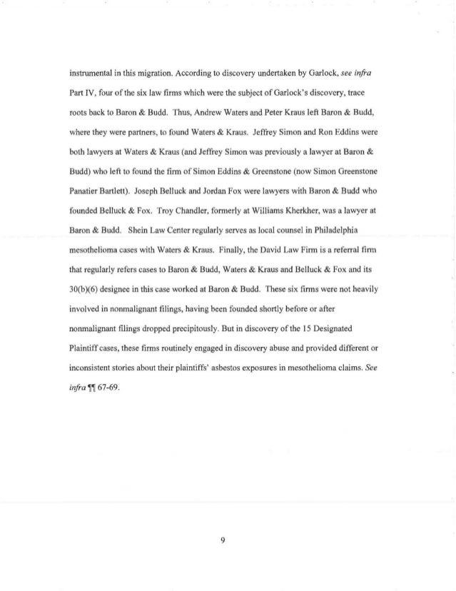 Expert Report of Lester Brickman, Esq., Benjamin N. Cardozo School of…