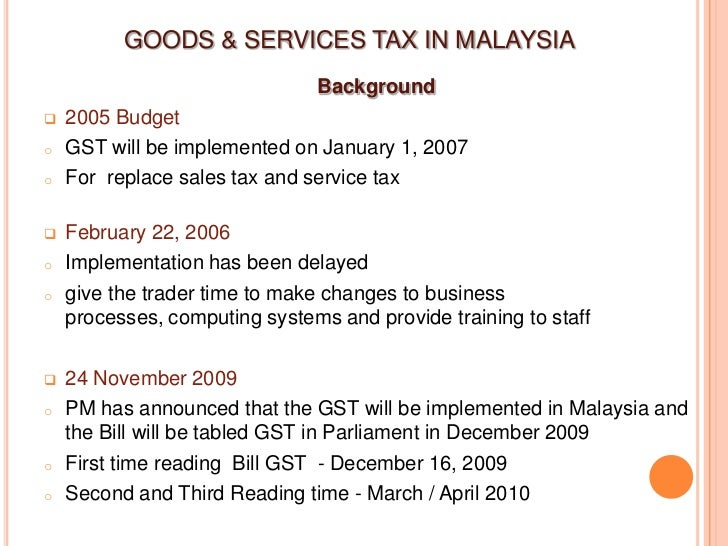 Research paper on goods and services tax