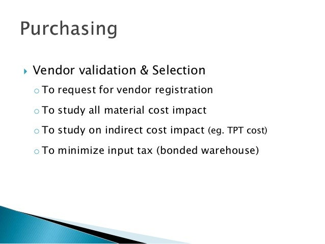 Malaysia GST Implementation plan for Company