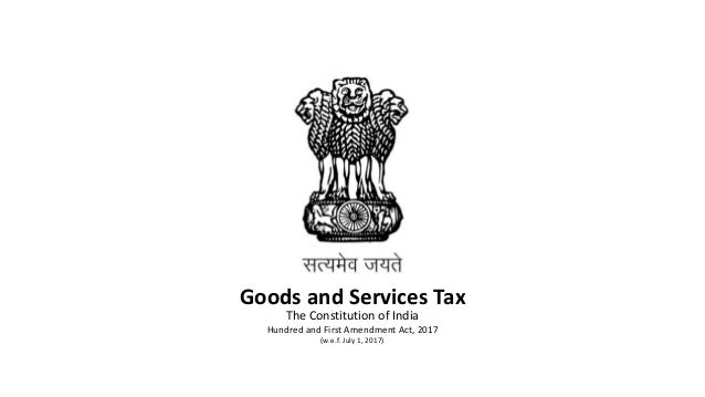 Introduction to Goods and Services Tax