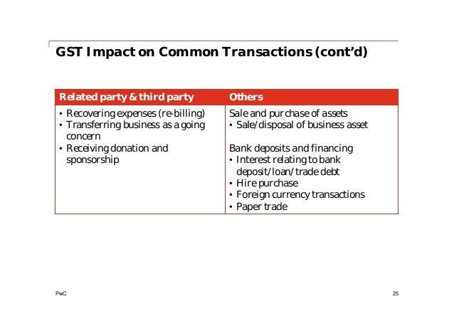 Gst budget presentation nov 2013