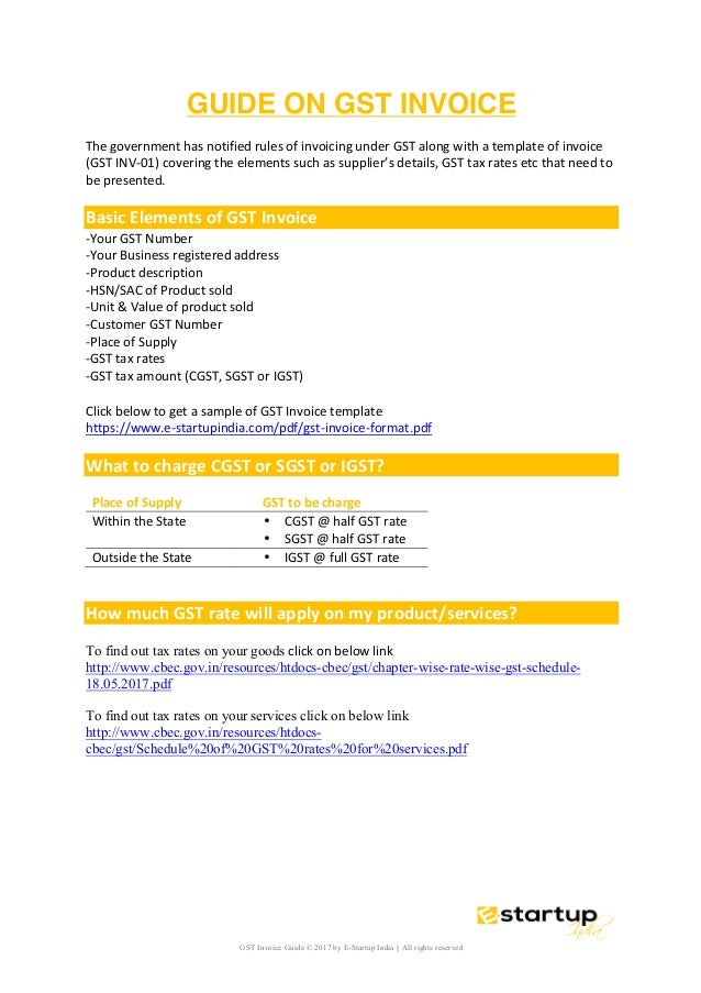 Gst Invoice Guide Gst Nil Return Guide