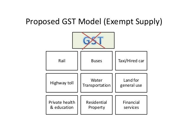 An introduction to gst in malaysia for Table 6 of gst