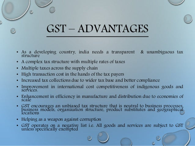 Top 10 Advantages and Disadvantages of GST Tax in India
