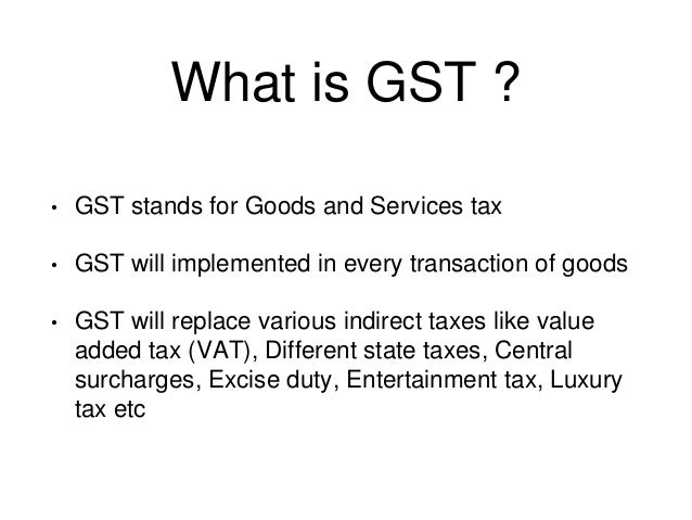 pros and cons of gst pdf
