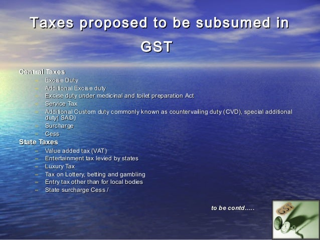GST- WHAT ALL IT WILL INCLUDE•    A sale or supply includes a sale of goods•    Lease of premises•    Hire of equipment•  ...