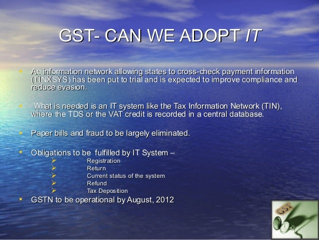 Key Features of CreditMechanism•   CGST can be set off against CGST•   SGST can be set off against SGST•   CGST cannot be ...