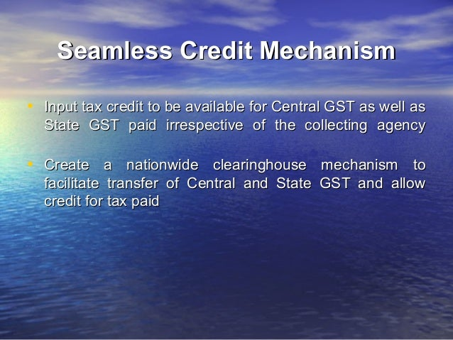 Central GST (CGST)• levied by the Centre through a separate  statute on all transactions of goods and  services made for a...