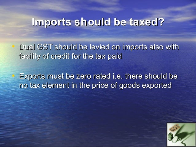 GST- It's System                        Invoice System• In this system, the credit of GST paid is claimed on the    basis ...
