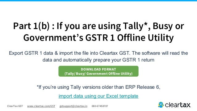 Gstr 1 Guide Cleartax Gst