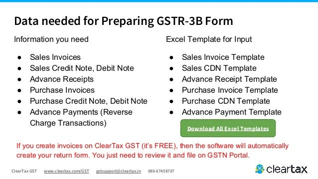 Gstr 3b Guide Cleartax