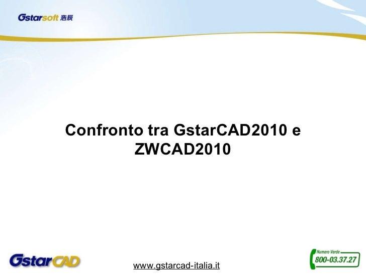 Confronto tra GstarCAD2010 e ZWCAD2010 www.gstarcad-italia.it