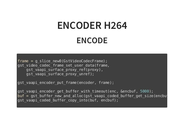 GStreamer-VAAPI: Hardware-accelerated encoding and decoding