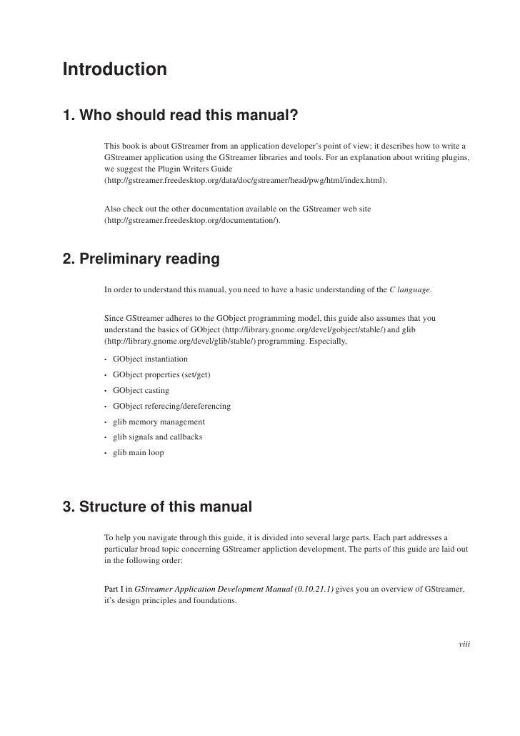 G Streamer Apps Development Manual