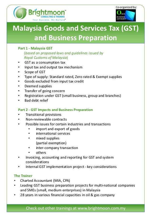 Malaysia GST & Business Preparation Training (Penang) Slide 2