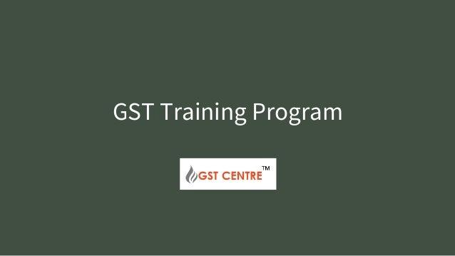 GST Training Program