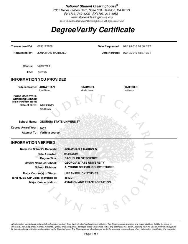 Transcripts & Enrollment Verification