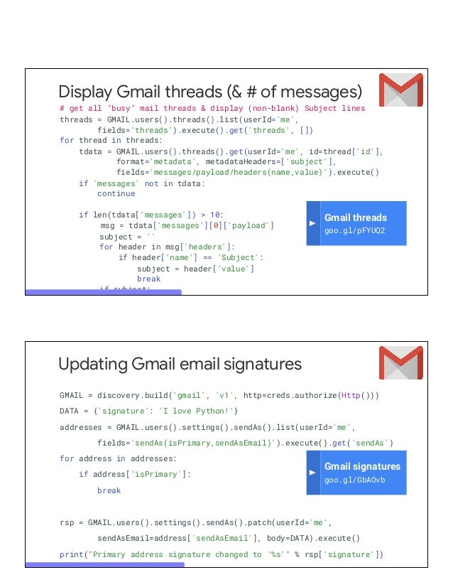 Power your apps with Gmail, Google Drive, Calendar, Sheets