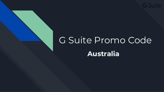 G Suite Business Promo Code Australia