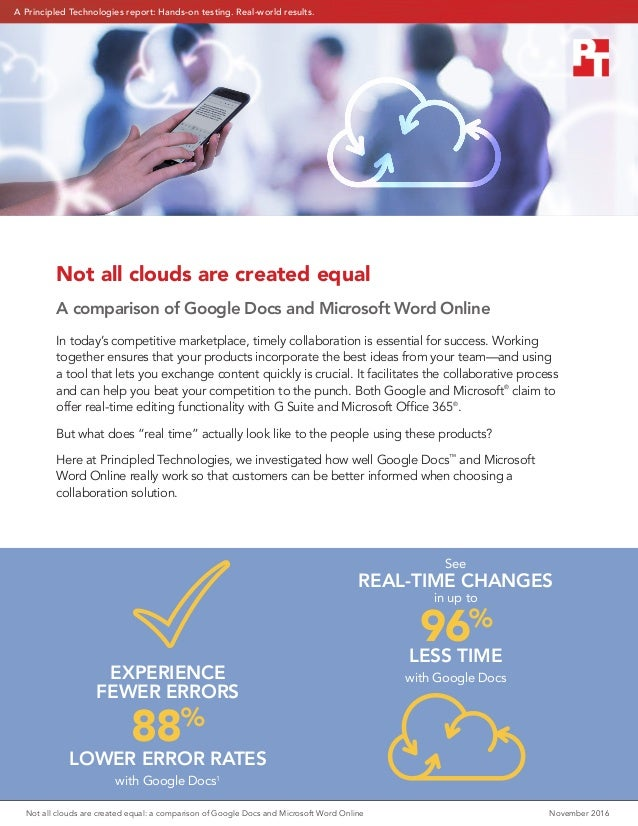 Not All Clouds Are Created Equal A Comparison Of Google Docs And Mic