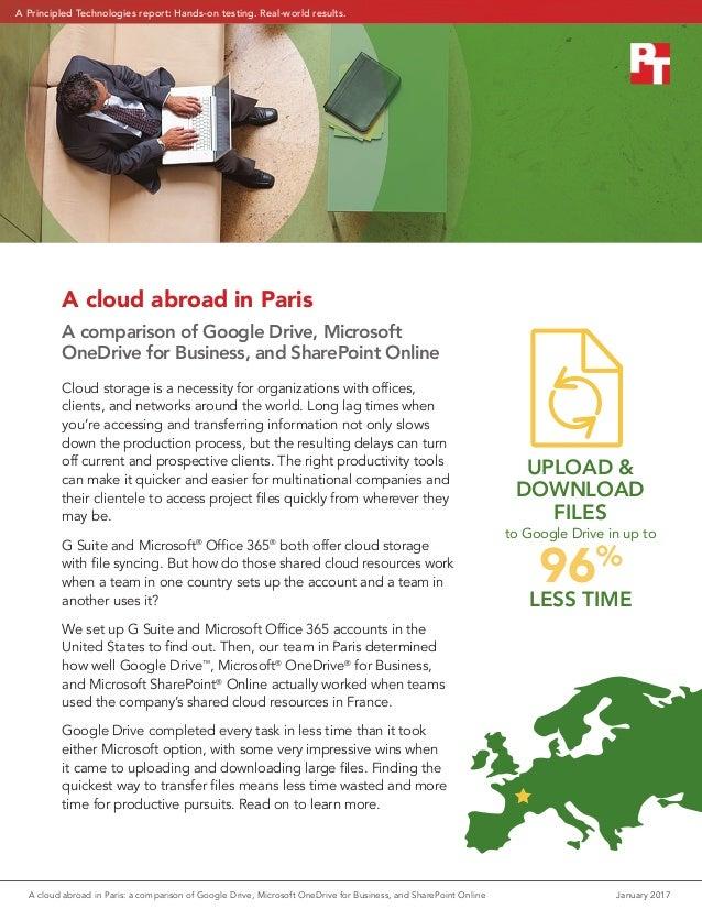 A cloud abroad in Paris: a comparison of Google Drive, Microsoft OneD…