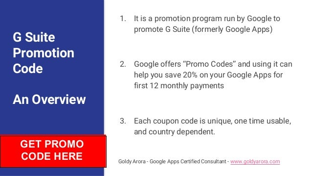 G suite promotion code - Your key to instantly save 20% on