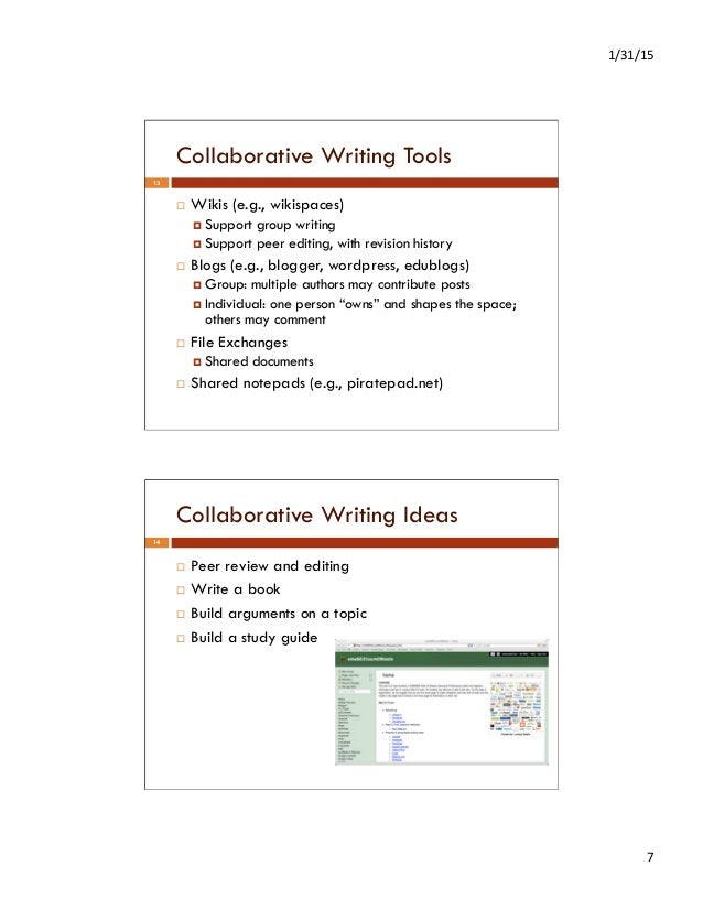 Writing and publishing tools