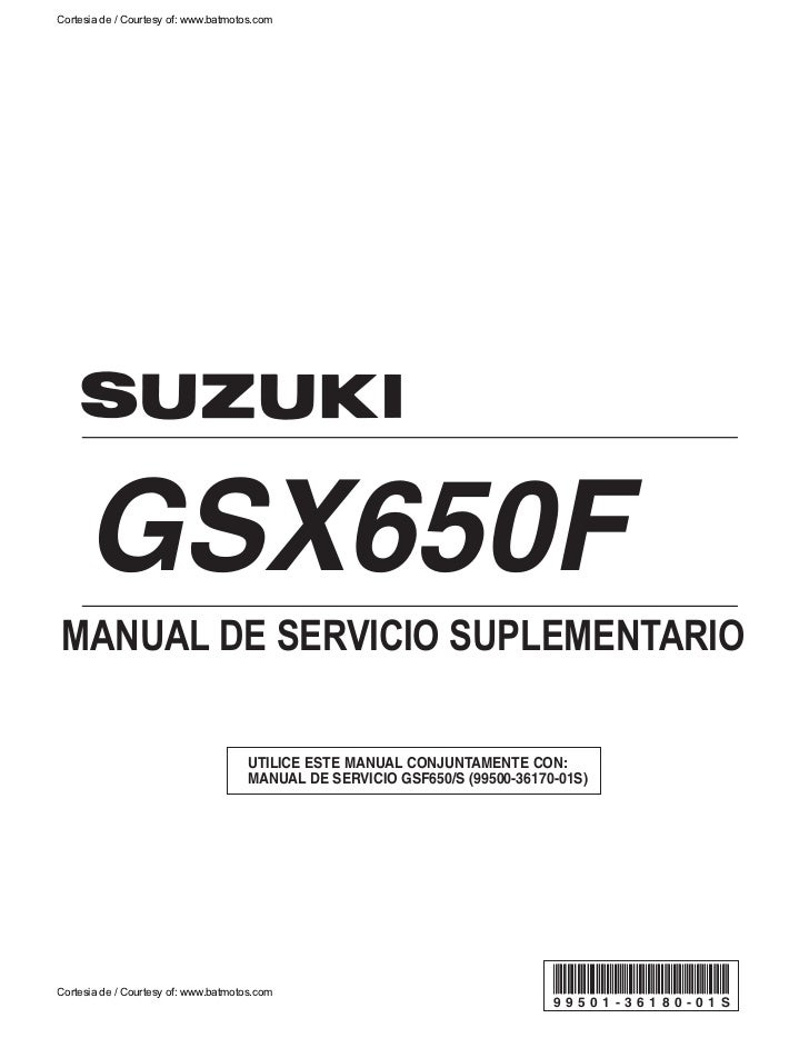 Gsx650 f k8 manual de usuario for Manual de acuicultura pdf