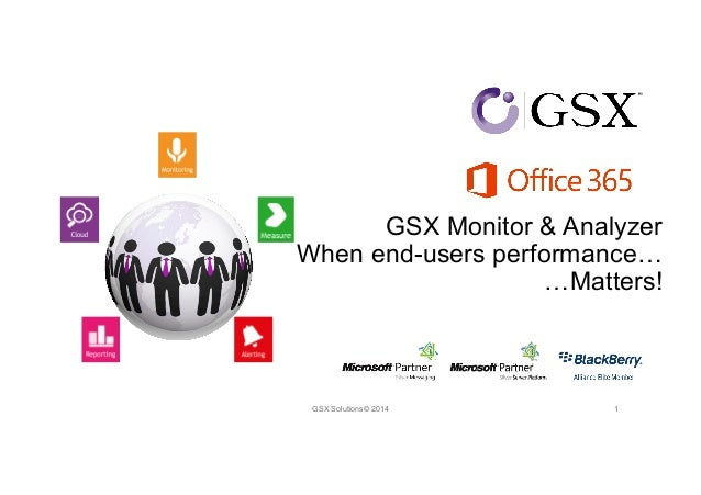 GSX Monitor & Analyzer  When end-users performance…  …Matters!  GSX Solutions© 2014 1