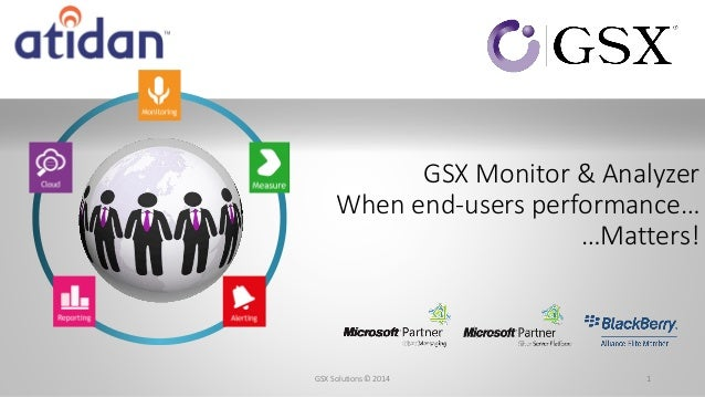 GSX Monitor & Analyzer When end-users performance… …Matters! 1GSX Solutions© 2014