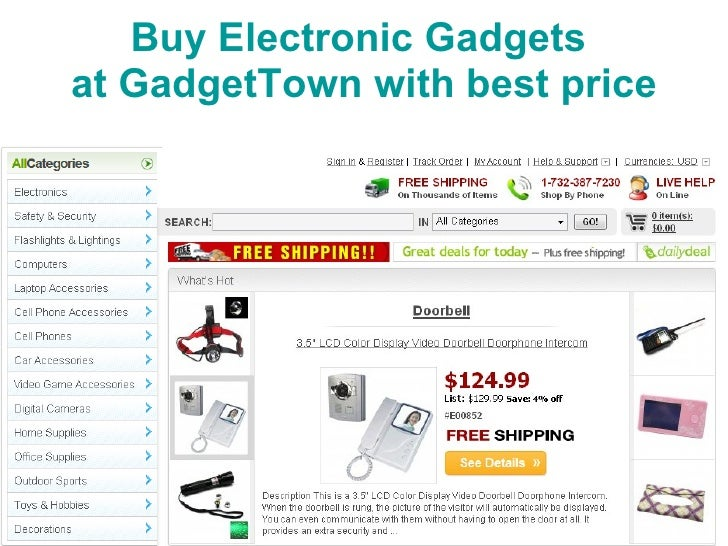 Buy  Electronic Gadgets  at GadgetTown with best price