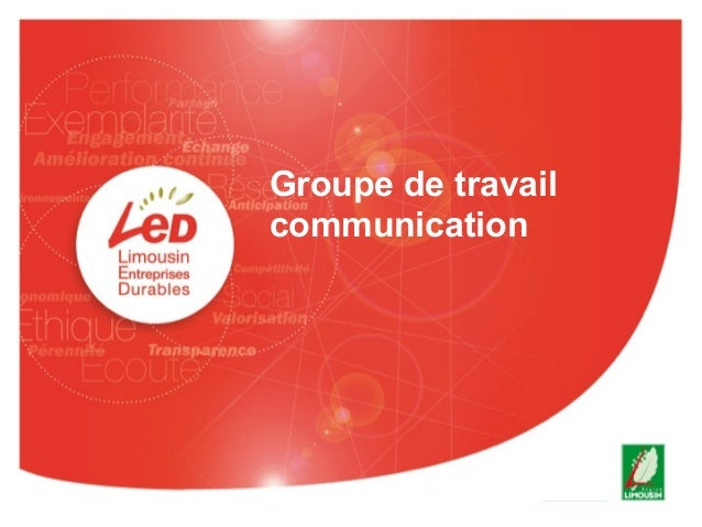 Groupe de travail communication