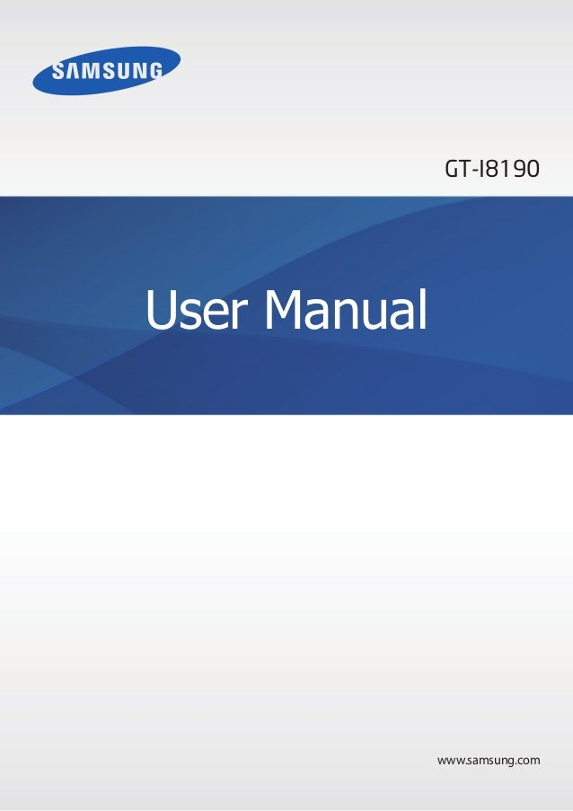 GT-I8190User Manual              www.samsung.com