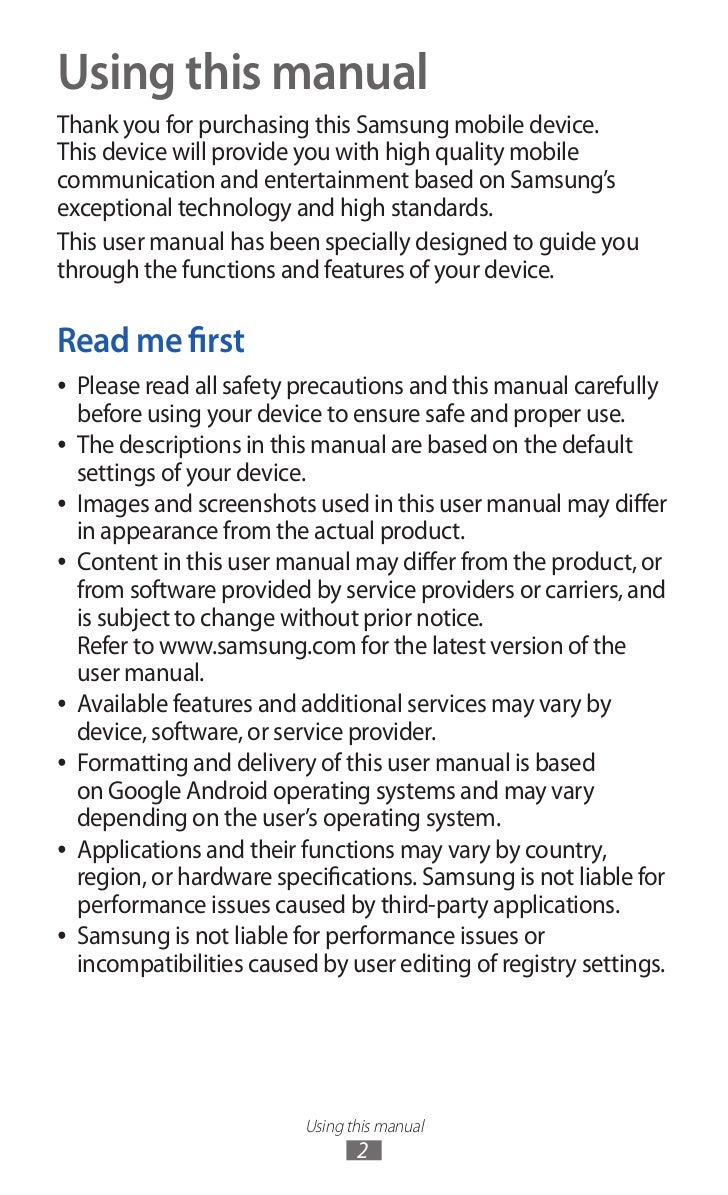 samsung galaxy s2 user manual