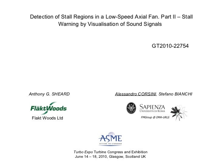 Detection of Stall Regions in a Low-Speed Axial Fan. Part II – Stall Warning by Visualisation of Sound Signals   Alessandr...