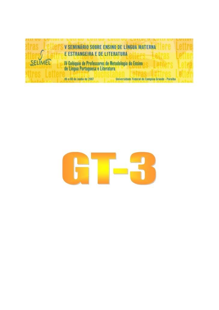 TRABALHOS – GT 3       AUTOR            TÍTULO DO TRABALHOManassés Morais         LEITURA E PRODUÇÃO DE E-MAILS: ATIVIDADE...
