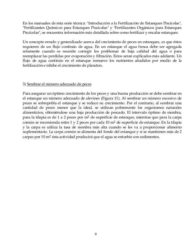 Tilapia for Fertilizacion de estanques piscicolas