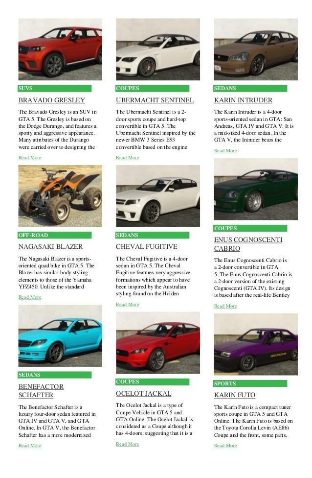 Gta Cars List