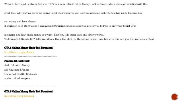 Cheats for gta 5 online on ps3