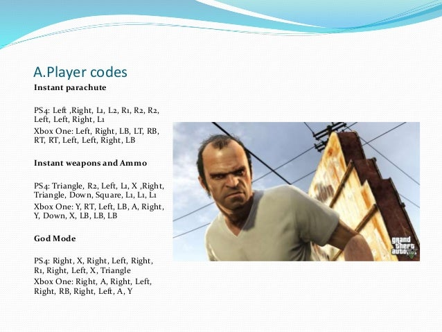 gta v cheats xbox one pdf
