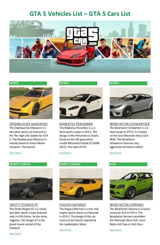 Gta  Online Car Price List