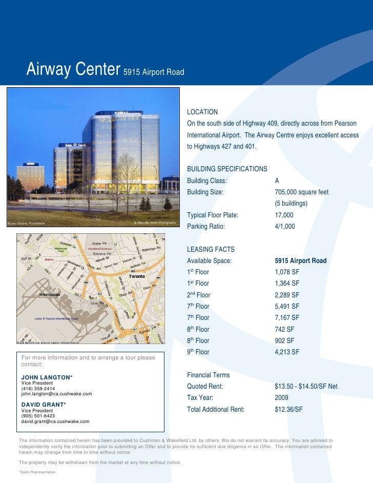 Airway Center 5915 Airport Road                                                                                 LOCATION  ...