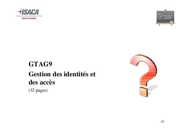 GTAG: Documents de référence