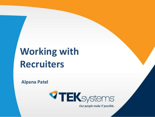 IT Club GTA - Working with IT Recruiters: Top Strategies in 2015