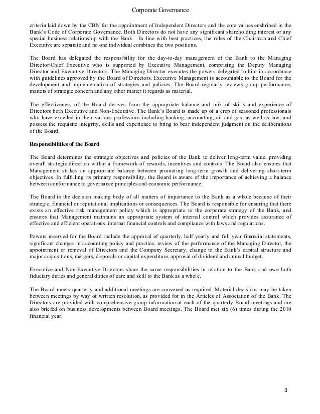 Guaranty Trust Bank financial report 2010