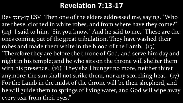 Are You Washed in the Blood Revelation 7