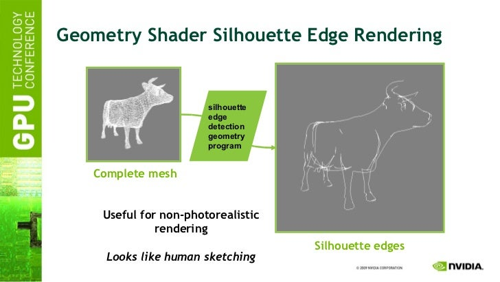 Geometry Shader Silhouette Edge Rendering silhouette edge detection geometry program Complete mesh Silhouette edges Useful...