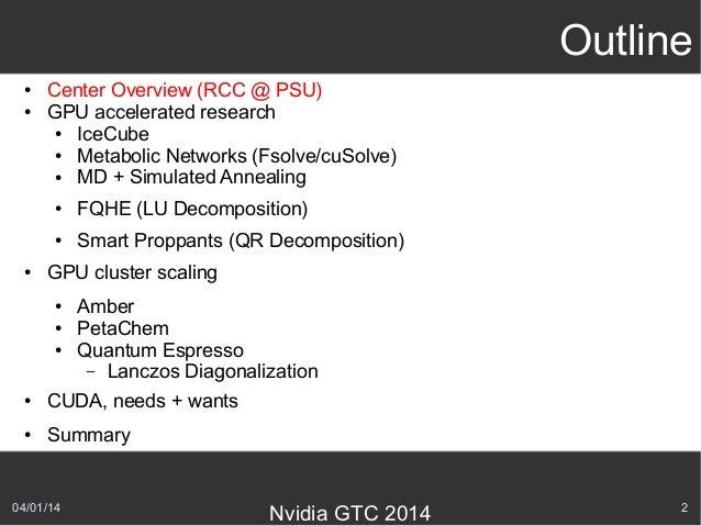 Nvidia GTC 2014 Talk