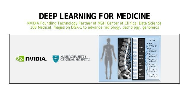 38 DEEP LEARNING FOR MEDICINE NVIDIA Founding Technology Partner of MGH Center of Clinical Data Science 10B Medical images...