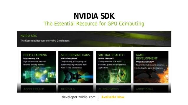 3 NVIDIA SDK The Essential Resource for GPU Computing developer.nvidia.com | Available Now